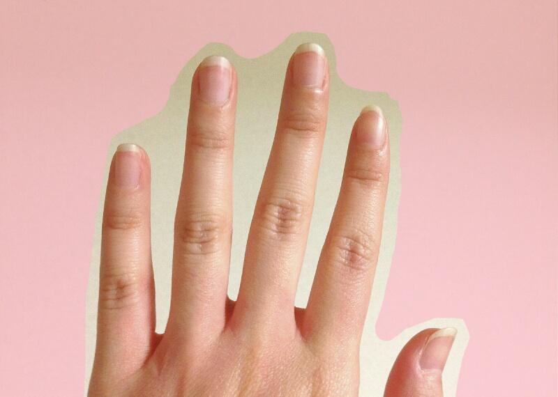 《画像》このくらいの爪の長さでもう落ち着かなくなって切りたくなる。
