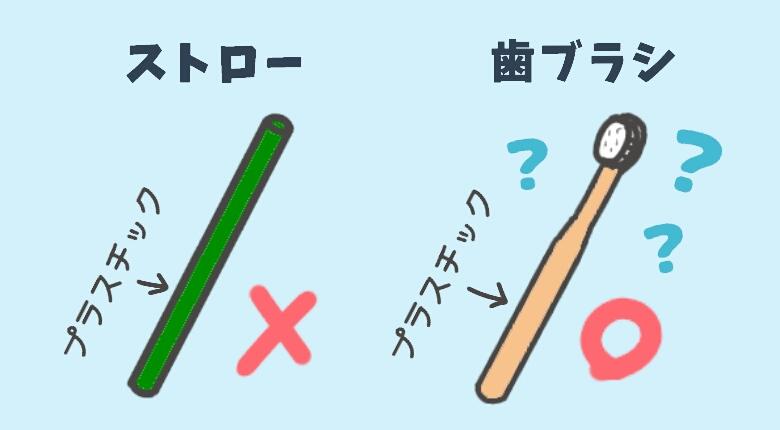 【問題提起】ストローはアウトで、同じプラスチックの歯ブラシはセーフ?